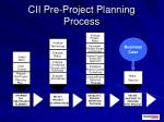 cii pre project planning process