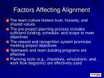 factors affecting alignment1