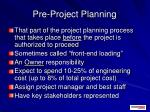 pre project planning2