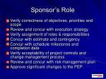 sponsor s role