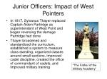 junior officers impact of west pointers