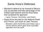 santa anna s defenses