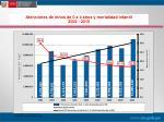 atenciones de ni os de 0 a 4 a os y mortalidad infantil 2002 2010