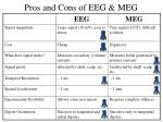 pros and cons of eeg meg