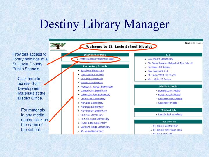 destiny library manager n.