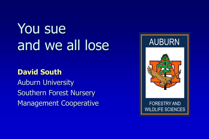 david south auburn university southern forest nursery management cooperative n.