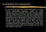 a snapshot of a classroom