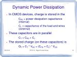 dynamic power dissipation1