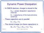 dynamic power dissipation1