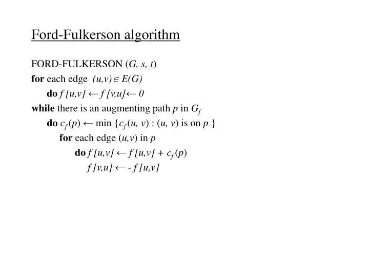 Ford-Fulkerson algorithm
