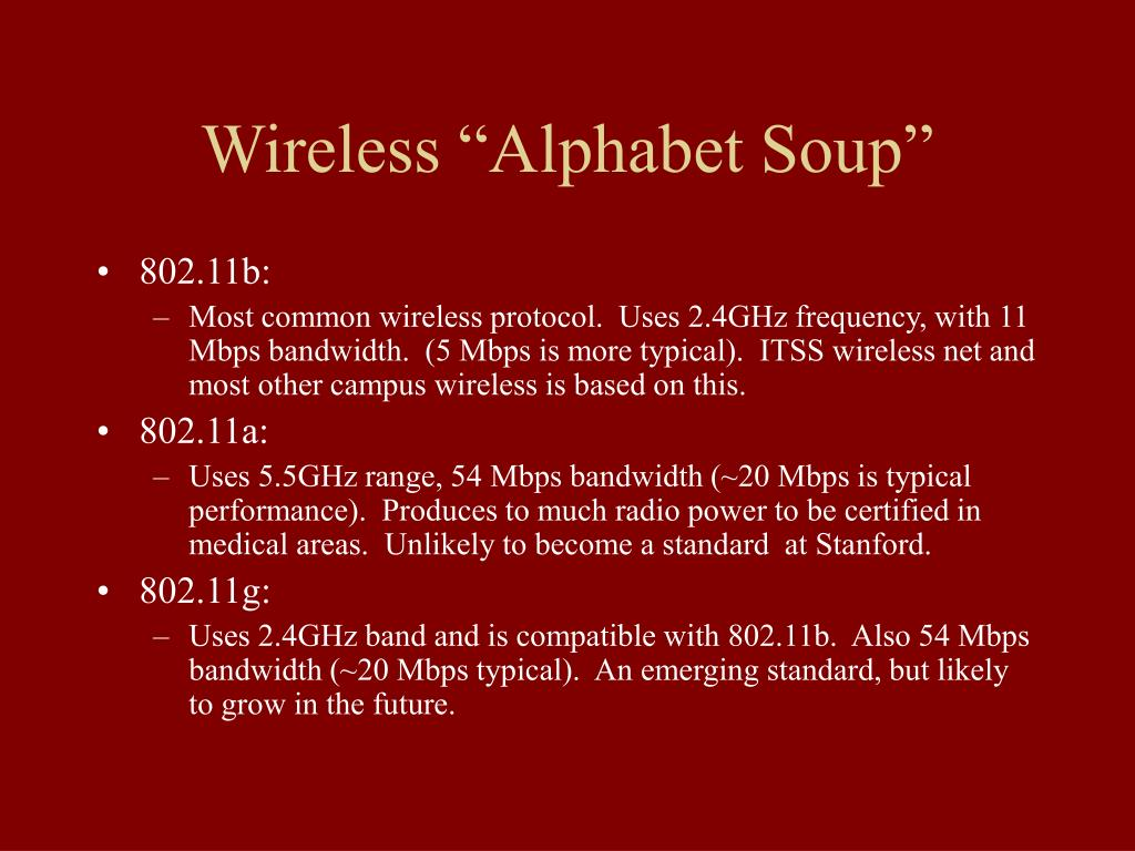 "Wireless ""Alphabet Soup"""