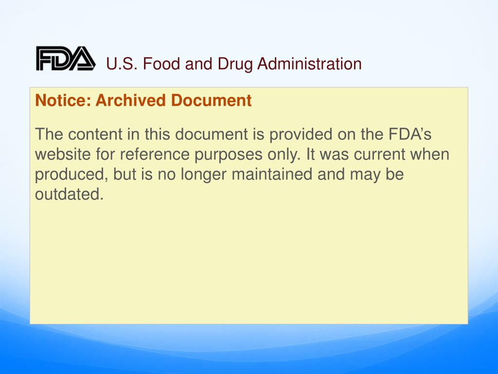u s food and drug administration l.