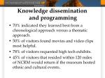 knowledge dissemination and programming