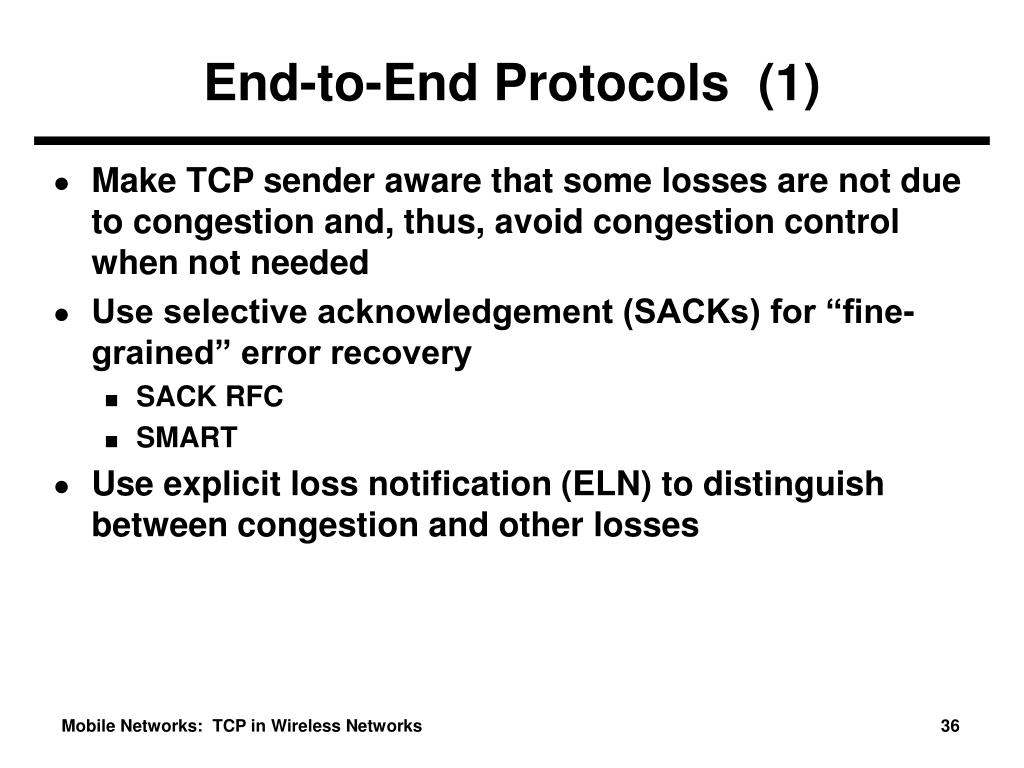 End-to-End Protocols  (1)