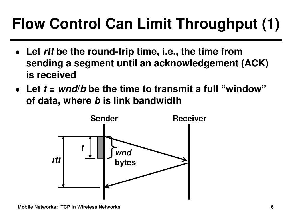 Flow Control Can Limit Throughput (1)