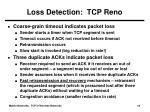 loss detection tcp reno