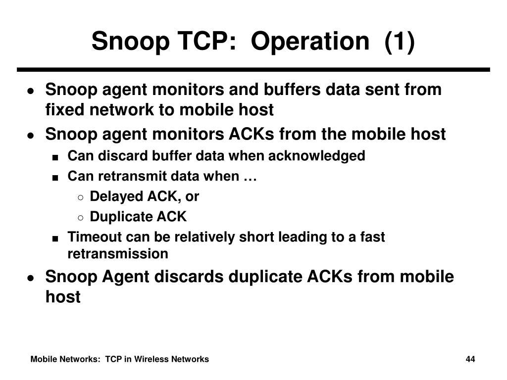 Snoop TCP:  Operation  (1)