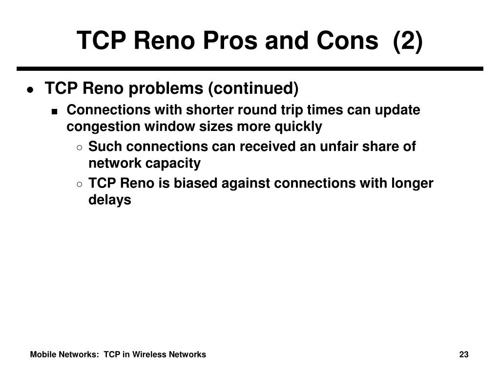 TCP Reno Pros and Cons  (2)