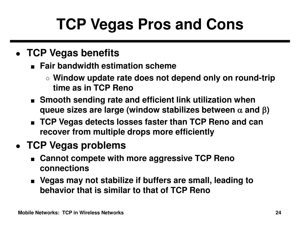 TCP Vegas Pros and Cons