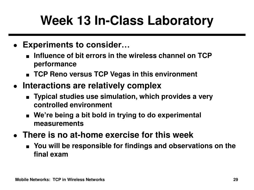 Week 13 In-Class Laboratory