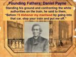 founding fathers daniel payne