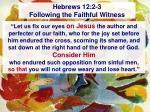 hebrews 12 2 3 following the faithful witness