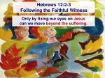 hebrews 12 2 3 following the faithful witness41