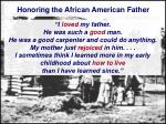 honoring the african american father25