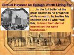 lemuel haynes an epitaph worth living for38