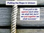 pulling the rope in unison23