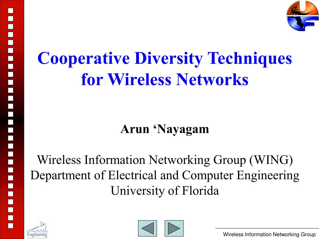 cooperative diversity techniques for wireless networks l.