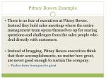 pitney bowes example