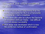new name and culture conditions for rlo