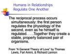 humans in relationships regulate one another1