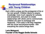reciprocal relationships with young children
