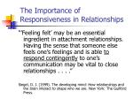 the importance of responsiveness in relationships