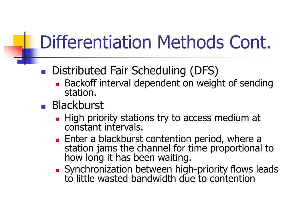 Differentiation Methods Cont.