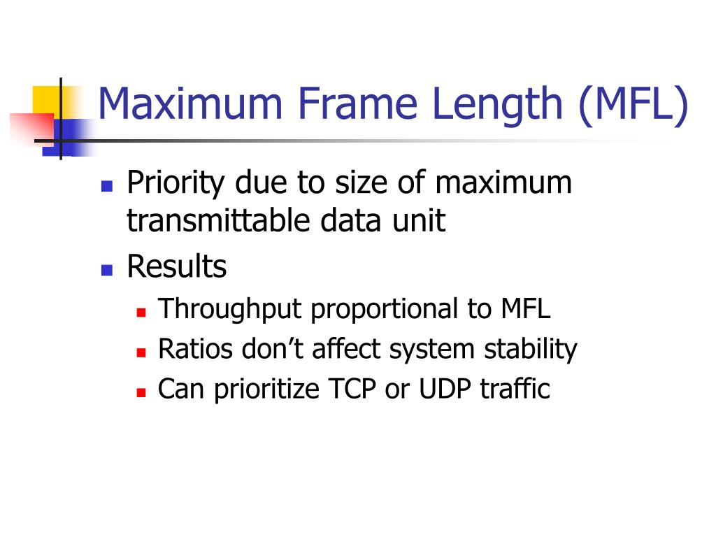 Maximum Frame Length (MFL)