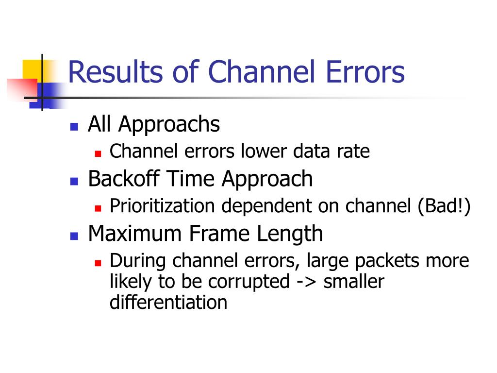 Results of Channel Errors