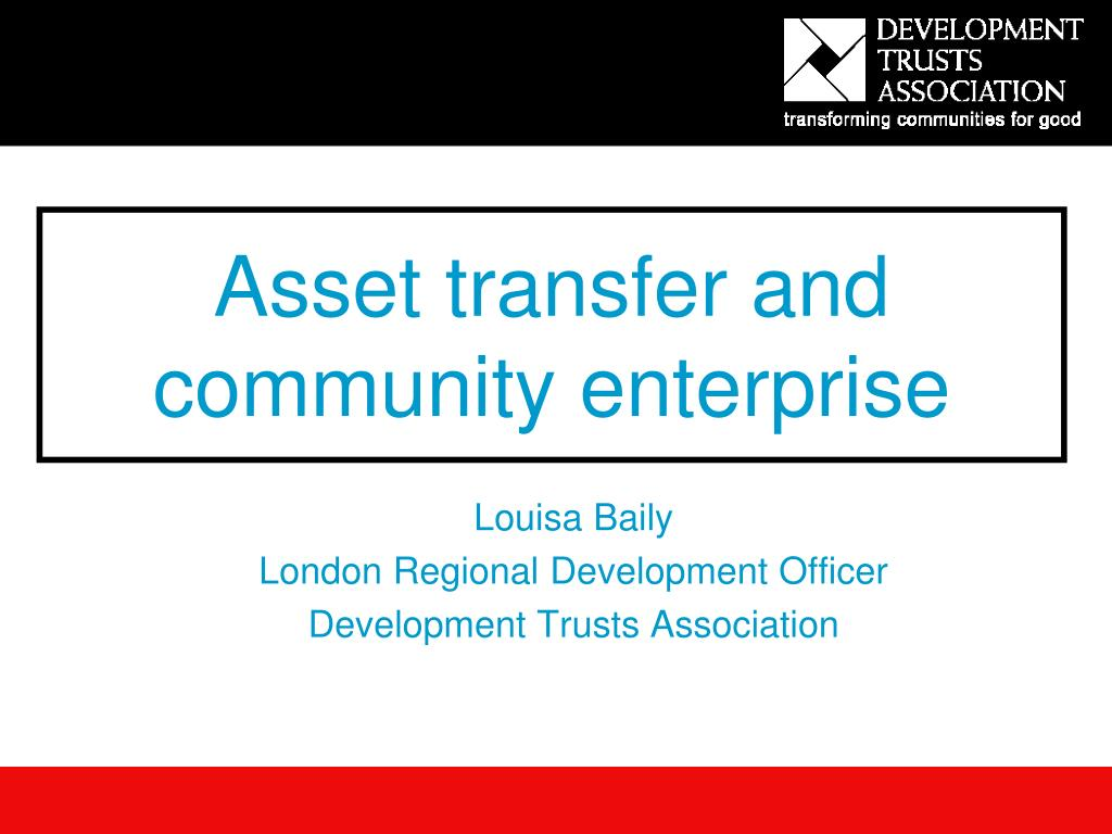 asset transfer and community enterprise l.