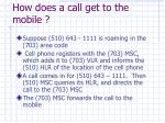 how does a call get to the mobile