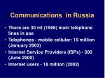 communications in russia