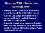 russian fsu i prevention consists from
