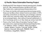 4 pacific wave extensible peering project