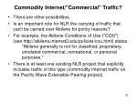 commodity internet commercial traffic