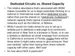 dedicated circuits vs shared capacity