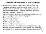 salient characteristics of the optiputer