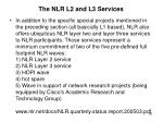 the nlr l2 and l3 services