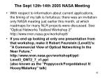 the sept 12th 14th 2005 nasa meeting