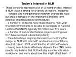 today s interest in nlr